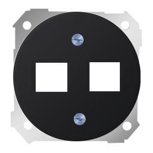 Адаптер на два разъема RJ45(12) 75528- 75540- 75541- 75544-39 Simon 88 графит