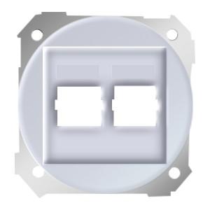 Адаптер на два разъема RJ45 75542-30 Simon 88 белый