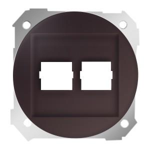 Адаптер на два разъема RJ45 75542-30 Simon 88 коричневый