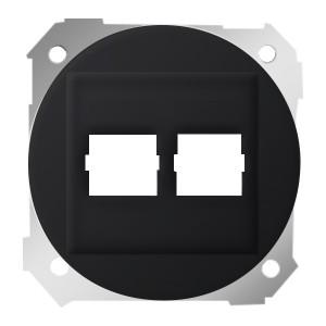 Адаптер на два разъема RJ45 75542-30 Simon 88 графит