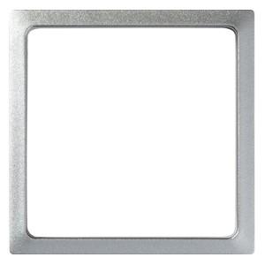 Вставка декоративная в рамку базовую с вырезом Simon 27 Play, алюминий