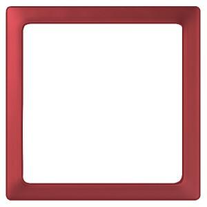 Вставка декоративная в рамку базовую с вырезом Simon 27 Play, прозрачный красный