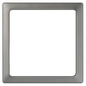 Вставка декоративная в рамку базовую с вырезом Simon 27 Play, прозрачный серый