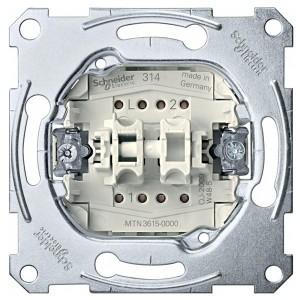 Выключатель 2-клавишный 16A Merten механизм