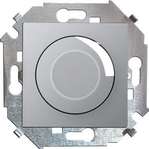 Диммер поворотно-нажимной 500Вт 230В винтовой зажим Simon 15, алюминий