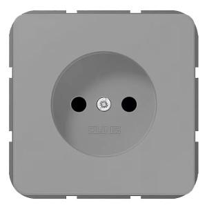 Розетка 2Р винтовой зажим Jung CD Серый