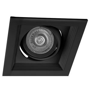 Светильник DLT201 1x50W MAX MR16 G5.3/GU5.3 карданик черный