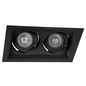Светильник DLT202 2x50W MAX MR16 G5.3/GU5.3 карданик черный