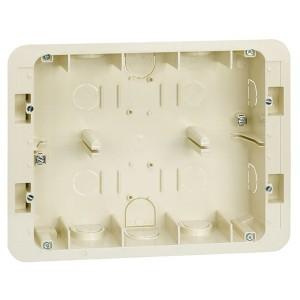 Коробка для внутреннего монтажа 2-рядной рамки с суппортами, 236х171х50,5мм Simon 27C,82C