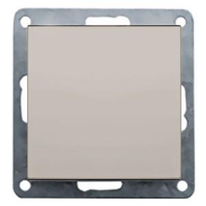 Заглушка с суппортом Экопласт LK60, серебристый металлик