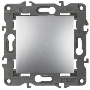 Переключатель 10АХ-250В IP20 Эра Elegance алюминий 14-1103-03