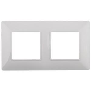 Рамка на 2 поста Эра Elegance белый 14-5002-01