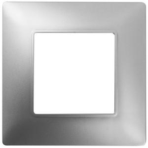 Рамка на 1 пост Эра Elegance алюминий 14-5001-03