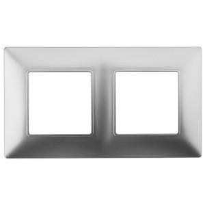 Рамка на 2 поста Эра Elegance алюминий 14-5002-03