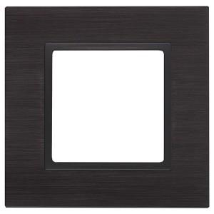 Рамка на 1 пост металл Эра Elegance чёрный+антрацит 14-5201-05