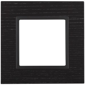 Рамка на 1 пост дерево Эра Elegance чёрное дерево+антрацит 14-5301-05