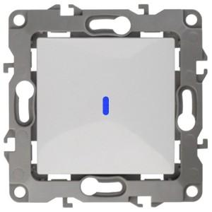 Выключатель с подсветкой 10АХ-250В IP20 Эра 12, белый 12-1102-01