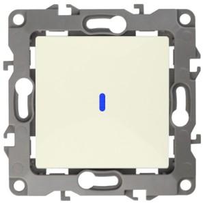 Выключатель с подсветкой 10АХ-250В IP20 Эра 12, слоновая кость 12-1102-02 (бежевый)