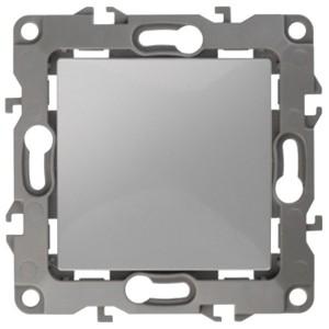 Выключатель 10АХ-250В IP20 без лапок Эра 12, алюминий 12-1001-03