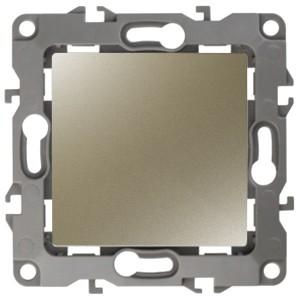 Выключатель 10АХ-250В IP20 без лапок Эра 12, шампань 12-1001-04