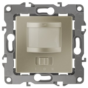 Датчик движения 2-проводной 180-240В 200Вт IP20 Эра 12, шампань 12-4103-04