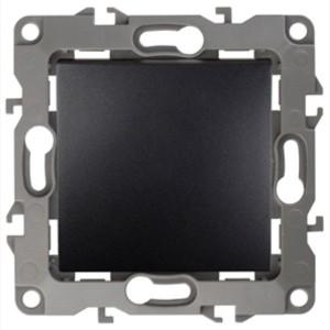 Выключатель 10АХ-250В IP20 без лапок Эра 12, антрацит 12-1001-05