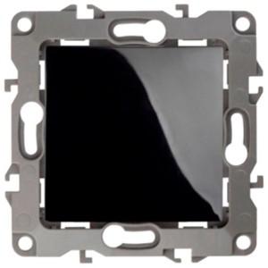 Выключатель 10АХ-250В IP20 без лапок Эра 12, чёрный 12-1001-06