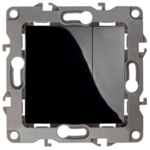 Выключатель тройной 10АХ-250В IP20 Эра 12, чёрный 12-1107-06