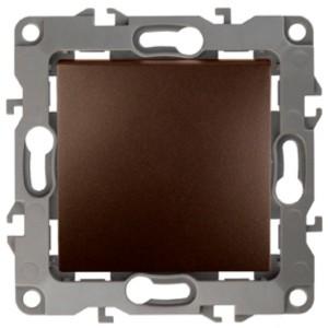 Выключатель 10АХ-250В IP20 без лапок Эра 12, бронза 12-1001-13
