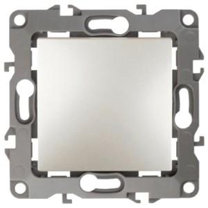 Выключатель 10АХ-250В IP20 без лапок Эра 12, перламутр 12-1001-15