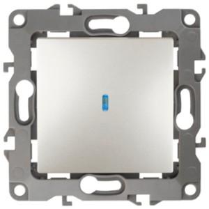 Выключатель с подсветкой 10АХ-250В IP20 Эра 12, перламутр 12-1102-15