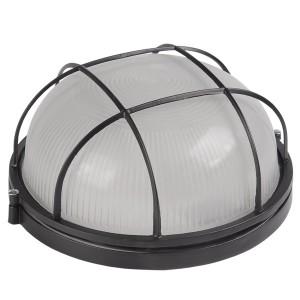 Светильник влагозащищенный НПП1102 100W E27 IP54 круглый с решеткой черный ИЭК