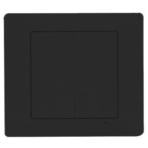 Радиовыключатель двухклавишный кнопочный Zamel Exta Free беспроводной передатчик 4 канала черный