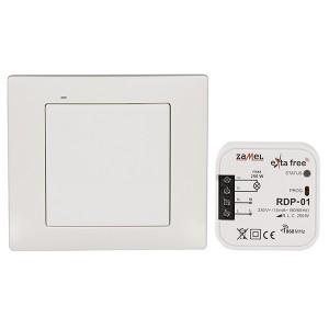 Комплект для беспроводного управления с диммированием Zamel (RNK02 + RDP01) 1 канал 250Вт белый