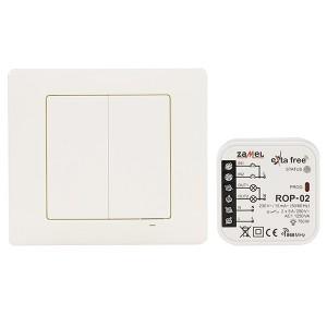 Комплект для беспроводного управления Zamel (RNK04 + ROP02) 2 канала по 1250Вт белый
