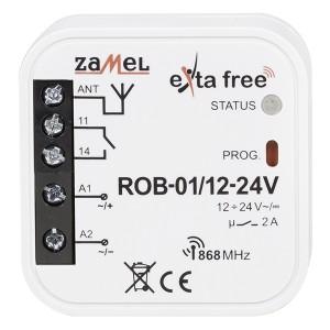 Радиореле для управления приводами ворот Zamel Exta Free приемник 1 канал 500Вт 12-24В AC/DC