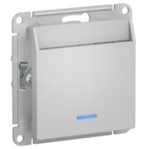 Выключатель карточный SE AtlasDesign, алюминий