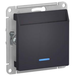 Выключатель карточный SE AtlasDesign, карбон