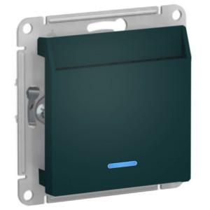 Выключатель карточный SE AtlasDesign, изумруд