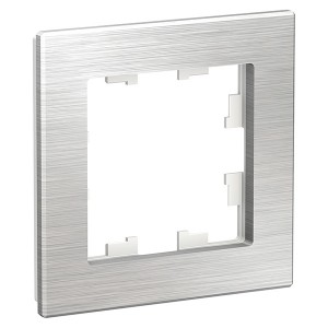 Рамка SE AtlasDesign Nature 1 пост, металл серебро