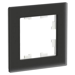Рамка SE AtlasDesign Nature 1 пост, матовое стекло черный