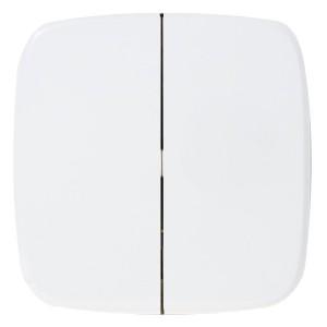 Радиовыключатель двухклавишный HiTE PRO Valena Allure передатчик 2 канала белый без рамки 289043