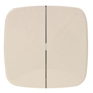 Радиовыключатель двухклавишный HiTE PRO Valena Allure передатчик 2к слоновая кость без рамки 289067 (бежевый)
