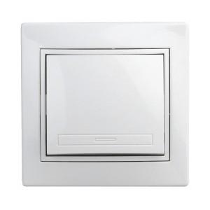 Выключатель 10А 250В  IP20 Intro Plano, белый 1-101-01