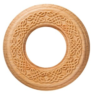 Рамка 1-я с резьбой форма восьмерка Bironi Шедель , дерево цвет Натурэль