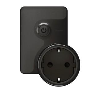 Умная мобильная розетка 2К+З 16А 230В.Legrand NETATMO черный