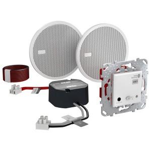 Аудиосистема Bluetooth (ресивер, блок питания, две колонки) SE Unica, белый