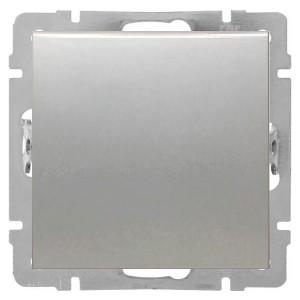 Выключатель 1-клавишный 16 A  250 B Экопласт LK80, серебристый металлик