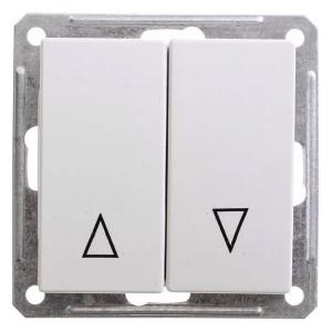 Двухклавишный выключатель с механич блокировкой для жалюзи механизм 10А SE W59, белый