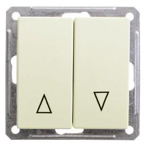 Двухклавишный выключатель с механич блокировкой для жалюзи механизм 10А SE W59, слоновая кость